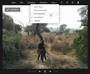 google + photo editing tool