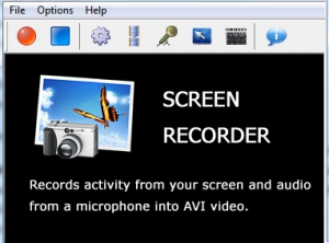 Record activities from your screen and audio from microphone.