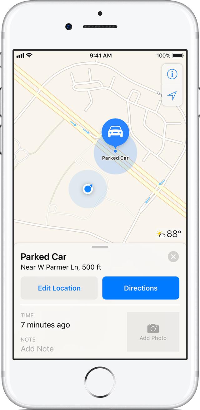 Ios  Parked Car Bluetooth