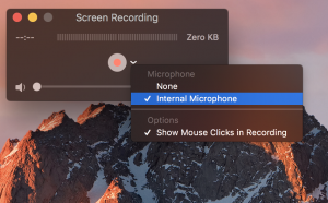 MacBook screen recording with audio