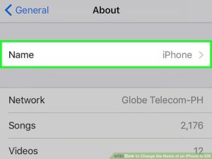 How To Alter The Name To The iPhone, Mac Or Other Apple Device