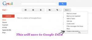 send emal message to google docs