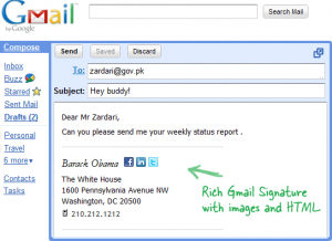 Create Rich HTML Signatures Right inside Gmail