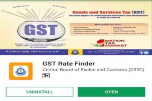 GST Rate Finder app on Android to find out GST rates
