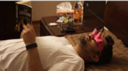 Lazy glass to read by sleeping