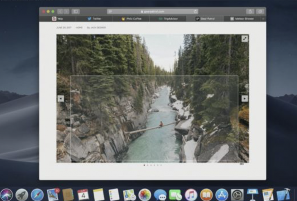 The different way to take a screenshot on macOS