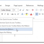 How To Create Your Own Tab On The Microsoft Office Ribbon