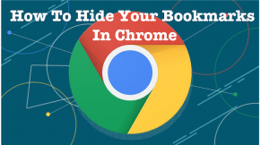 How to hide bookmarks in chrome