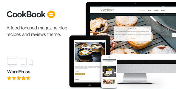 cookbook magazine Best WordPress Themes For Food Bloggers
