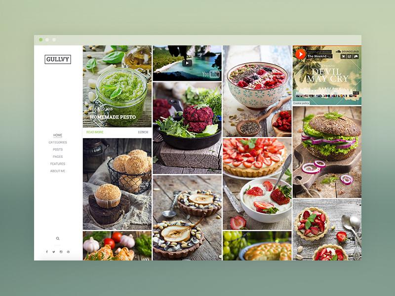 Gullvy Best WordPress Themes For Food Bloggers